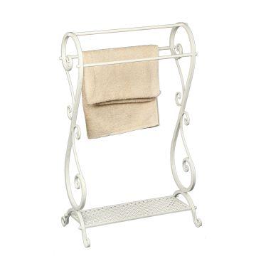 Elegant Towel Holder -  Antq. White