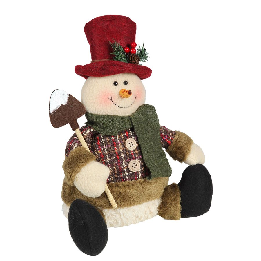 Snowman - Sitting with Shovel