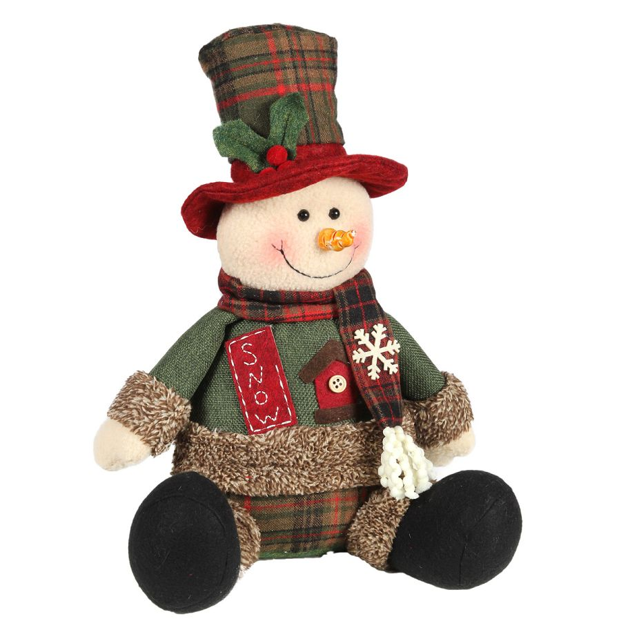 Snowman sitting - Snow