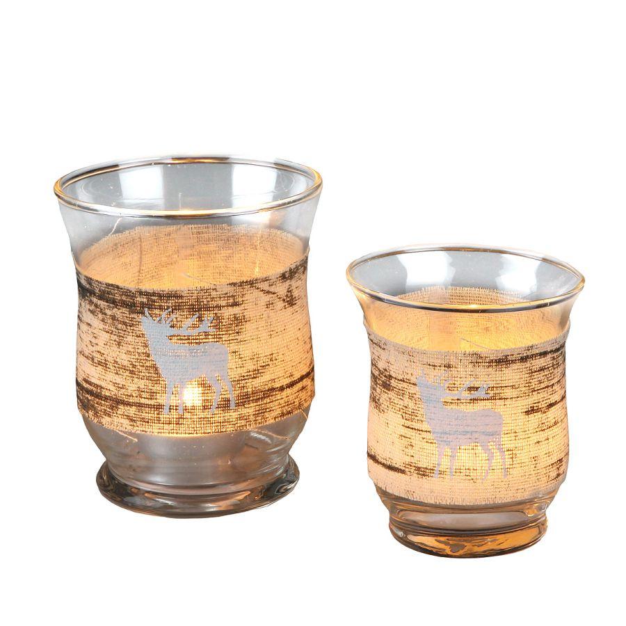 Christmas Glass Stag - large