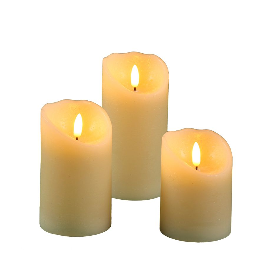 LED Candle 7.5x10cm (RC 51018)