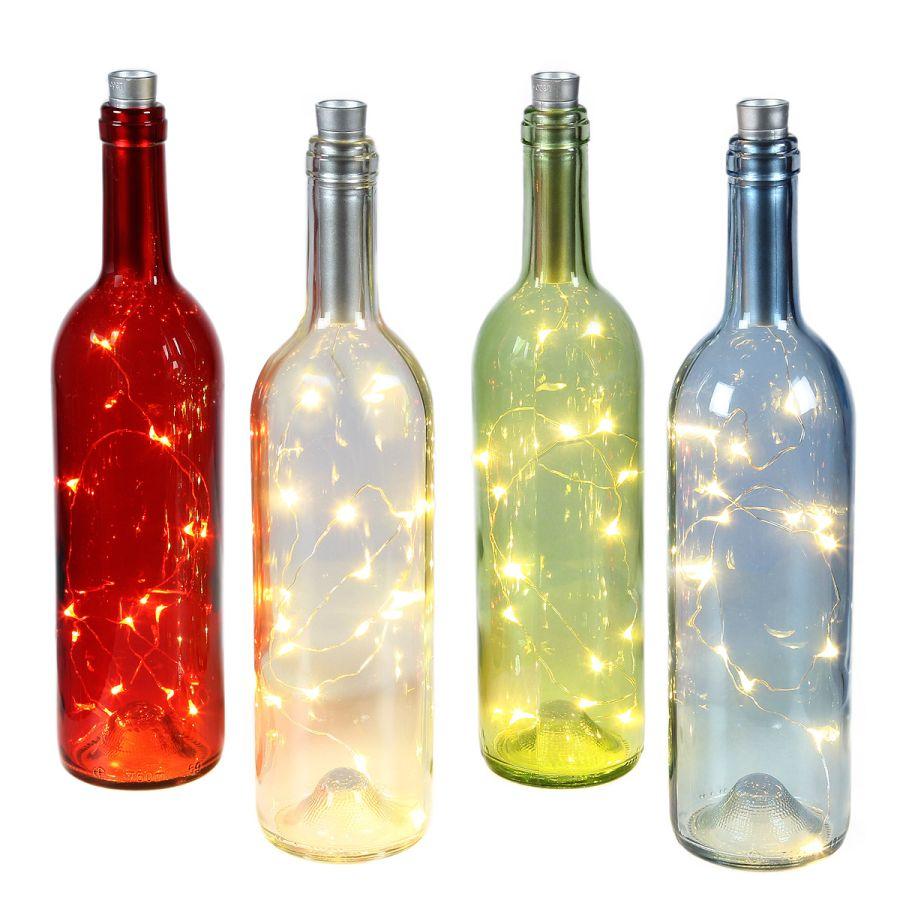 Blue Bottle with LED Light