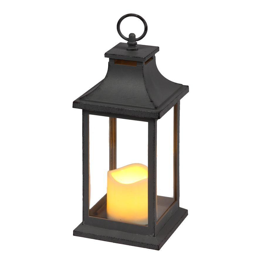 Lantern incl. LED Candle - Grey