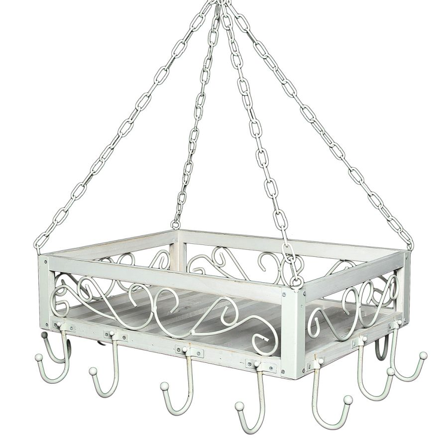 Romance Wood/Iron Pan Hanger