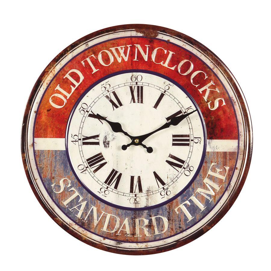 Old Town Metal Wall Clock 40cm
