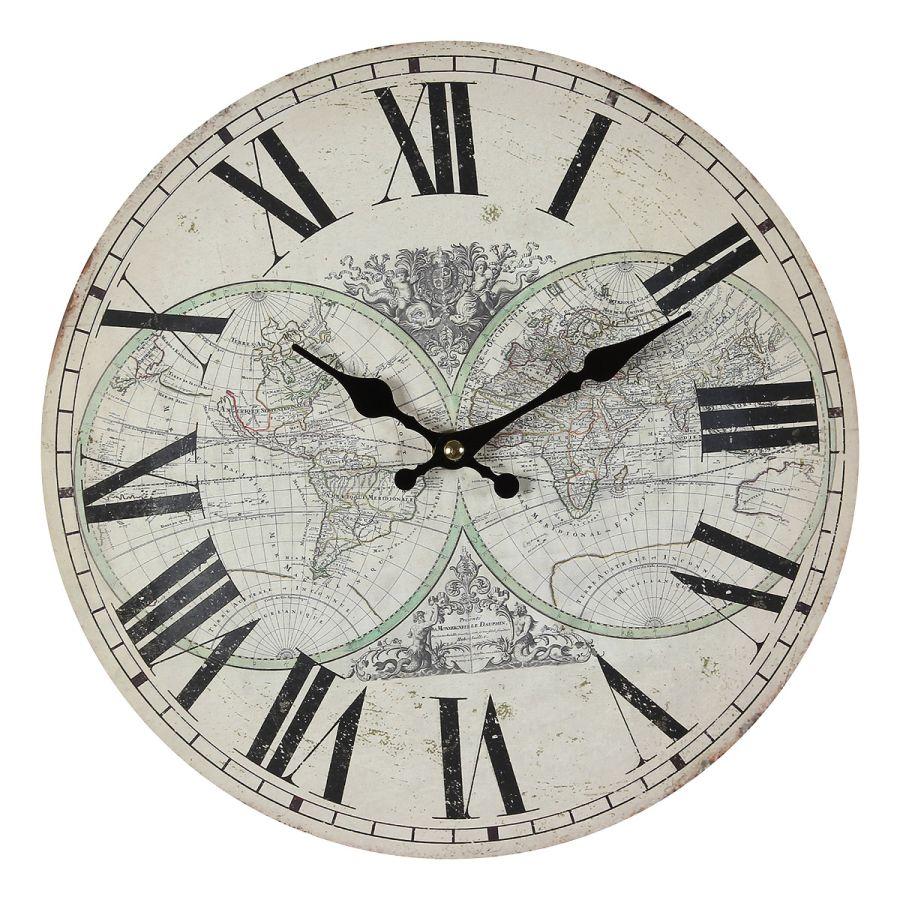 Map Wall Clock 28cm