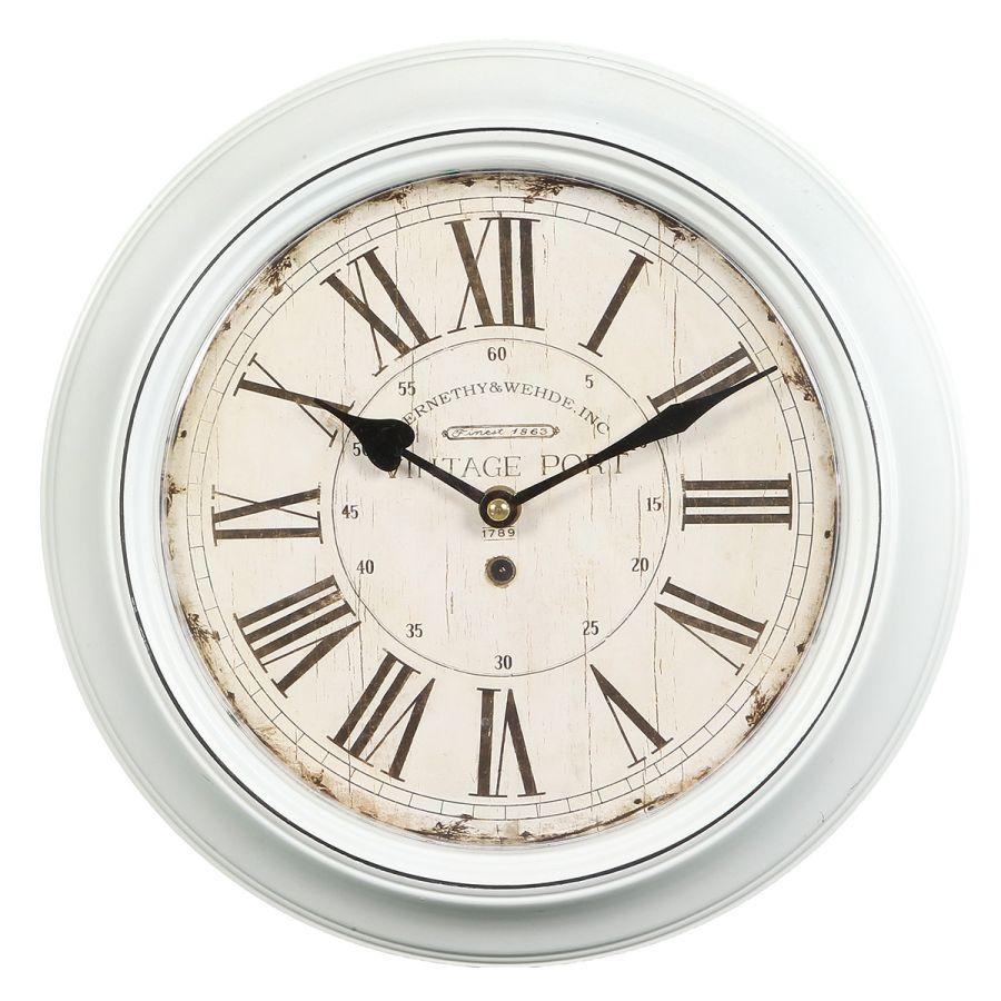 Metal Wall Clock - White 30cm