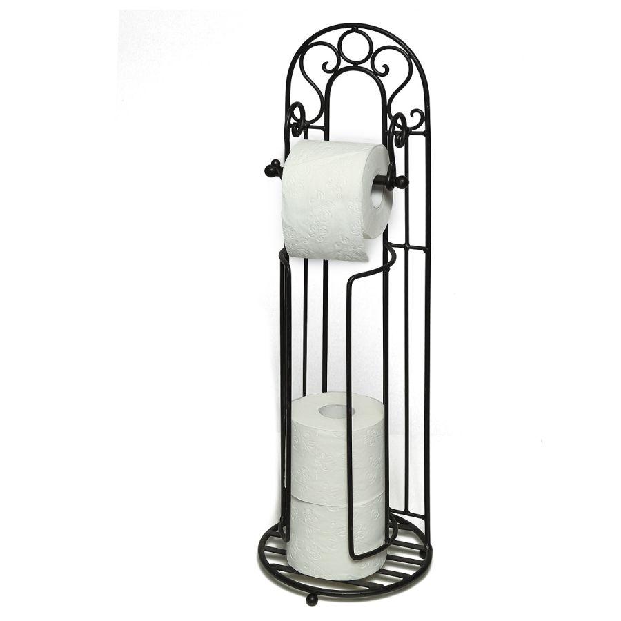 Toilet Roll Holder-Anq Black 72cm