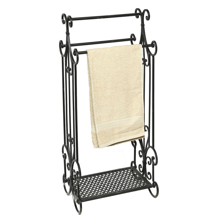 Towel Holder antq black 90cm