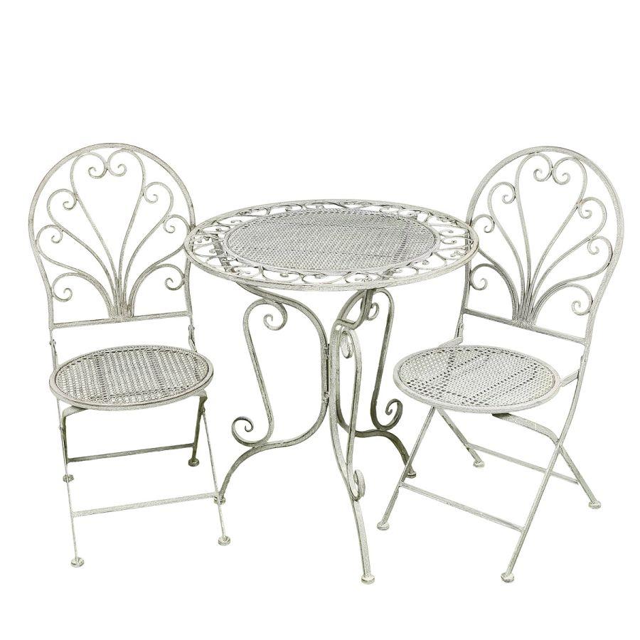 Grey Table & 2 Chair Set