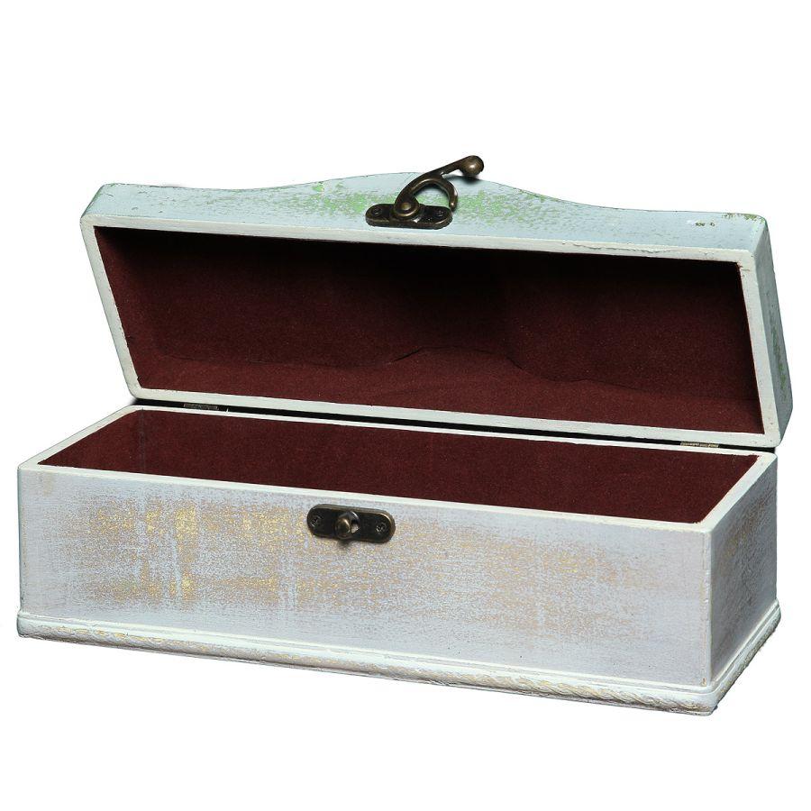 White Wooden Bottle Box