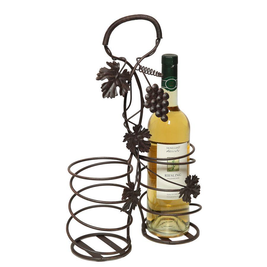 2 Bottle Holder 41cm - Antq Brown