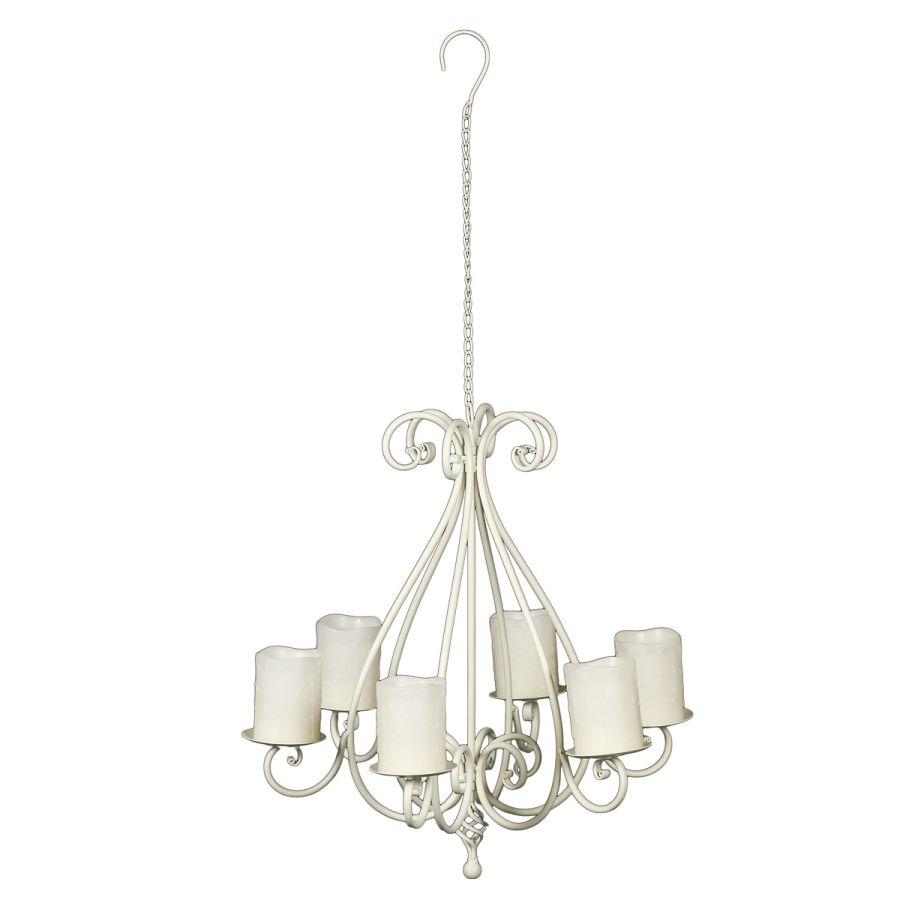 Hanging Candleabra - Antq White
