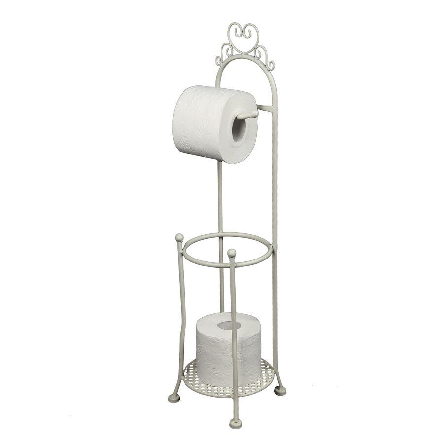 Toilet Roll Holder - Antq White 70cm