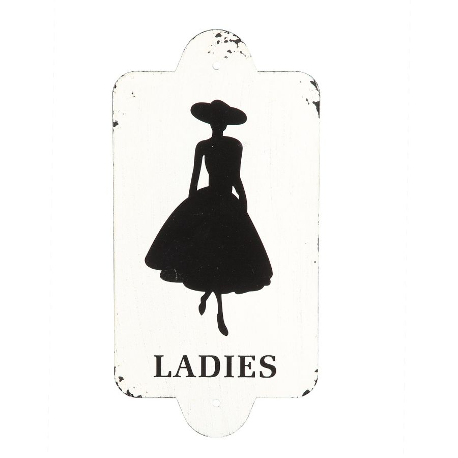Metal Plaque - Ladies 28x14cm