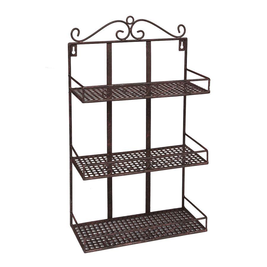 Wall Rack - Antq Brown 50cm