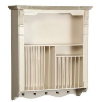 Country Wall Plate Rack 83cm