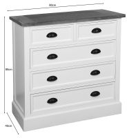 Villam 2/3 Chest of Drawers 80cm