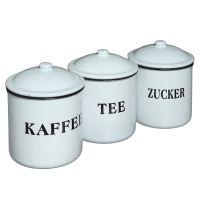 Enamel Tee, Kaffee, Zucker 12cm