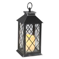 Atq. Black Lantern 34cm incl. LED Candle