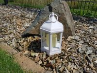 Atq. White Hex Lantern incl. LED Candle