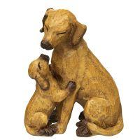 Hund mit Welpe braun - klein