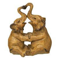 Elefanten-Paar - braun