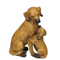 Hund mit Welpe braun - gross
