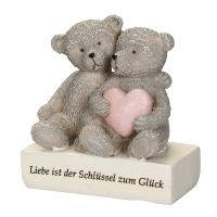 Bear Pair with Heart 8cm