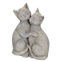 Grey Cat Pair 15cm