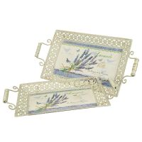Lavender Metal Tray Set