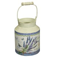 Lavender Milk Churn