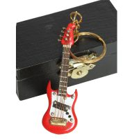 Keyring - Red Electric Guitar 7cm