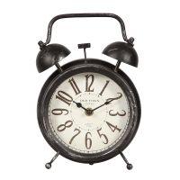 Antq Black Metal Clock 24cm