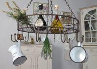 Country Kitchen Pan Hanger - brown