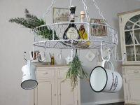 Country Kitchen Pan Hanger - white
