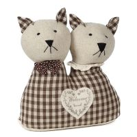 Door Stopper - Pair of Cats 25cm