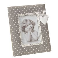 Fabric Photo Frame - Grey 20x16cm