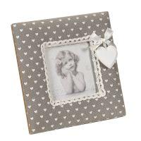 Fabric Photo Frame - Grey 16x16cm