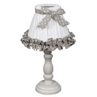 Grey Table Lamp 33cm