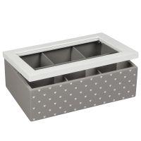 Grey Tea Box 23cm