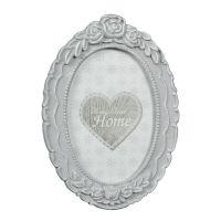 Grey Oval Photo Frame 15x11cm