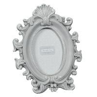 Grey Oval Photo Frame 13x10cm