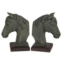 Horse Head Bookends 18cm
