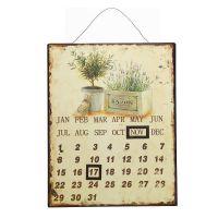 Metallbild Kalender - Lavendel 25x33cm