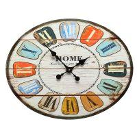 Oval Colour Clock 49cm