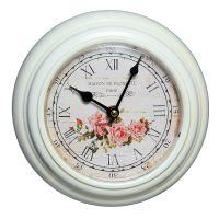 Rose Metal Rose Clock 20cm