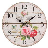 Rose Wall Clock 28cm