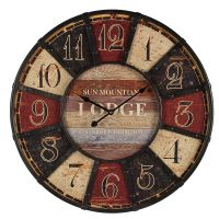 Lodge Wall Clock 58cm