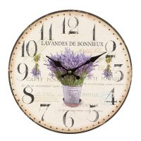 Lavendel Wanduhr 28cm